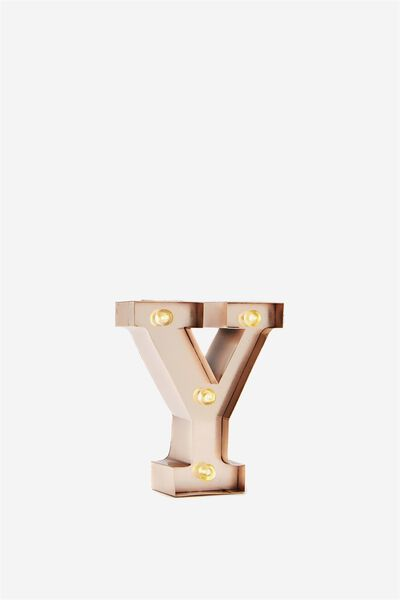 Mini Marquee Letter Lights 10cm, ROSE GOLD Y