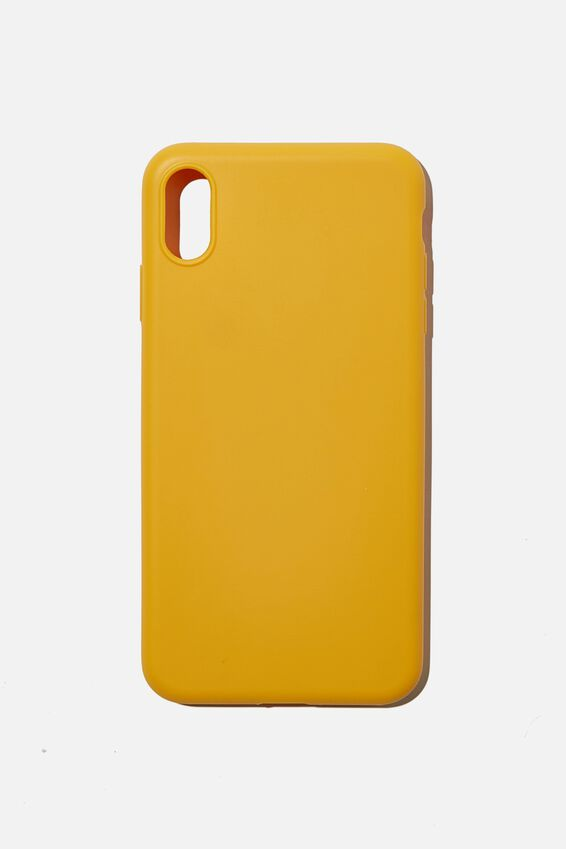 Recycled Phone Case iPhone Xs Max, MUSTARD