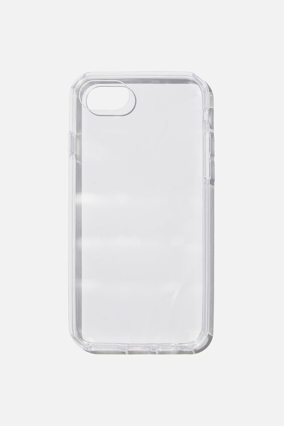 Snap On Protective Phone Case SE, 6, 7, 8, CLEAR GLASS