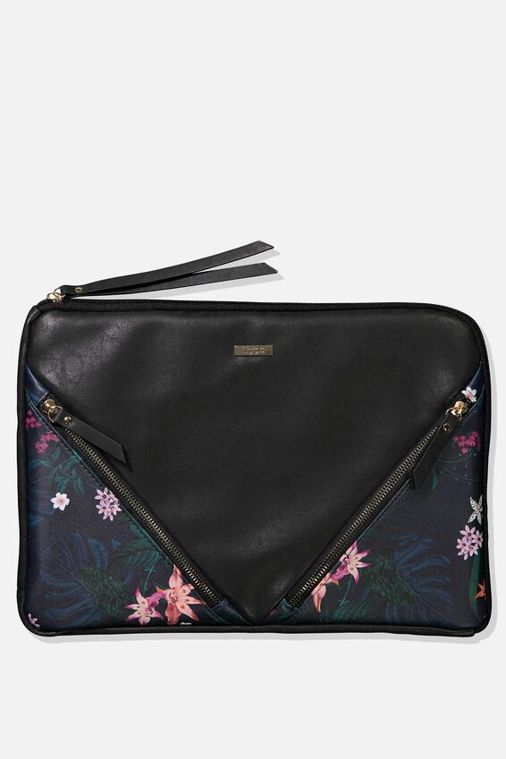 Premium Laptop Case 13 inch, JUNGLE FLORAL