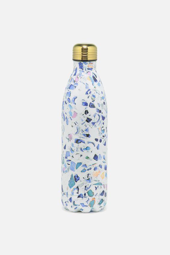 1L Metal Drink Bottle, TERRAZO
