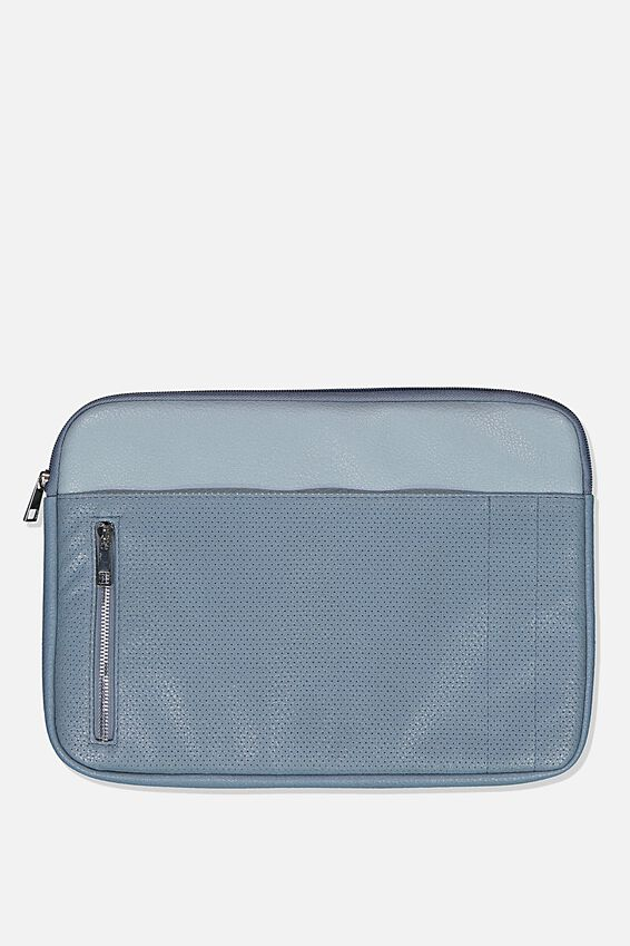 Take Charge Laptop Cover 13 inch, DUSTY & PETROL BLUE MIX