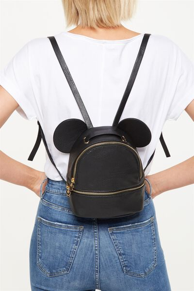 Mini Fashion Backpack, LCN BLACK MICKEY EARS