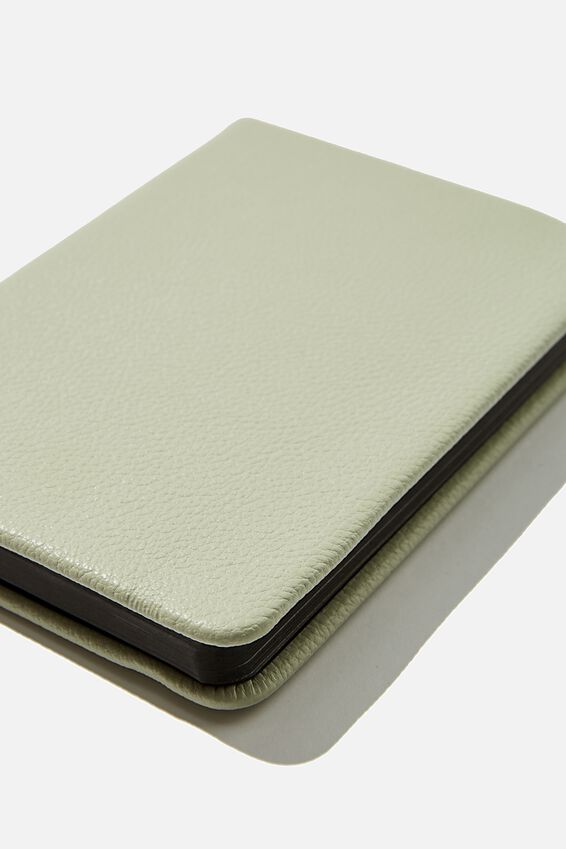 A6 Buffalo Dot Journal, WASHED SAGE