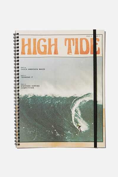 A4 Spinout Notebook Recycled, HIGH TIDE