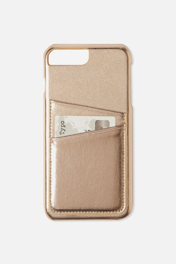 The Cardholder Phone Cover 6,7,8 Plus, ROSE GOLD