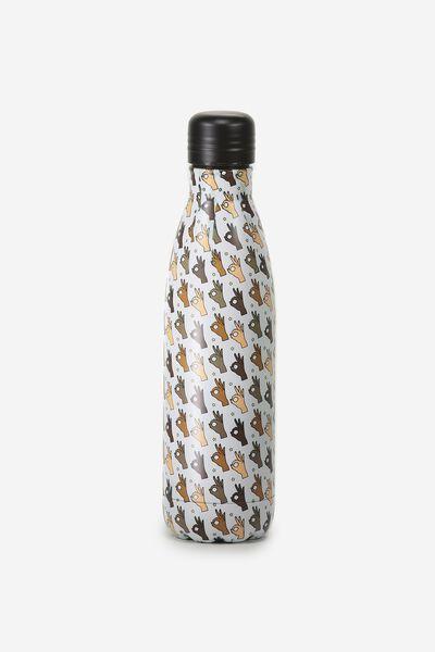 Metal Drink Bottle, OKAY FINGERS