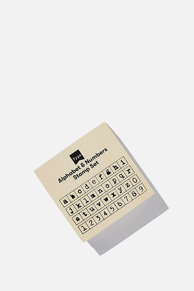 Letters And Numbers Stamp Set, LOWERCASE