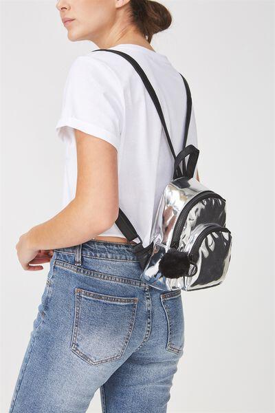 Mini Madrid Backpack, SILVER STARS