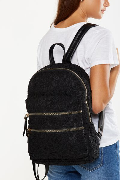 Berlin Backpack, BLACK LACE