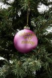 Small Glass Christmas Ornament, BAUBLE SLEIGH MY NAME