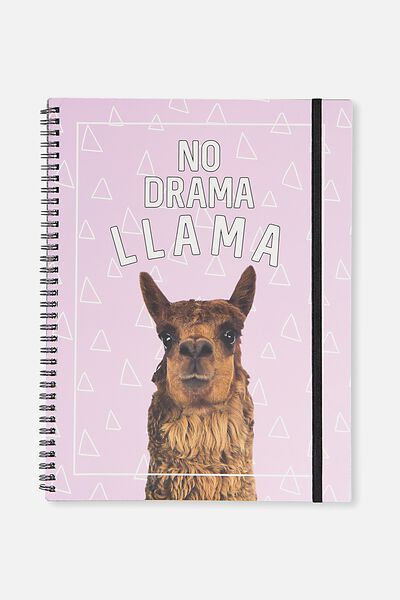 A4 Spinout Notebook - 120 Pages, NO DRAMA LLAMA