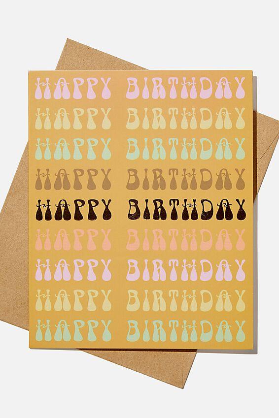 Nice Birthday Card, HAPPY BIRTHDAY MUSTARD REPEAT