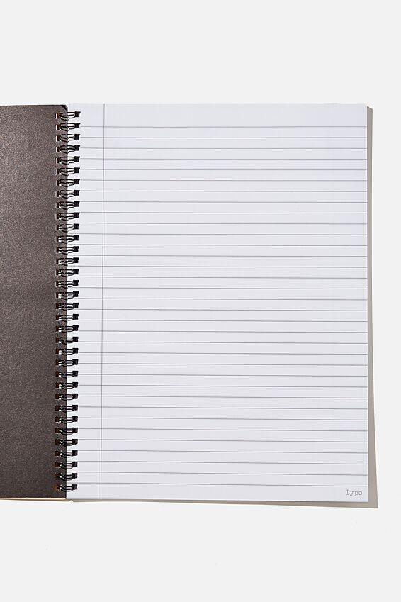 A4 Gudetama Spinout Notebook Recycled, LCN SAN GU MUSTARD GOOD VIBES ONLY