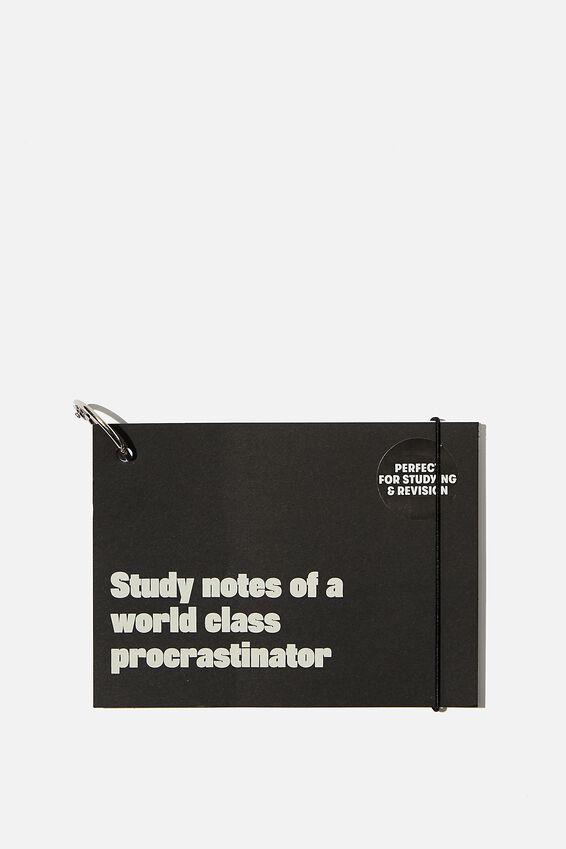 Study Cards, WORLD CLASS PROCRASTINATOR