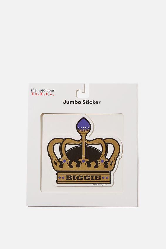 Biggie Smalls Jumbo Sticker, LCN MT BIG BIGGIE CROWN