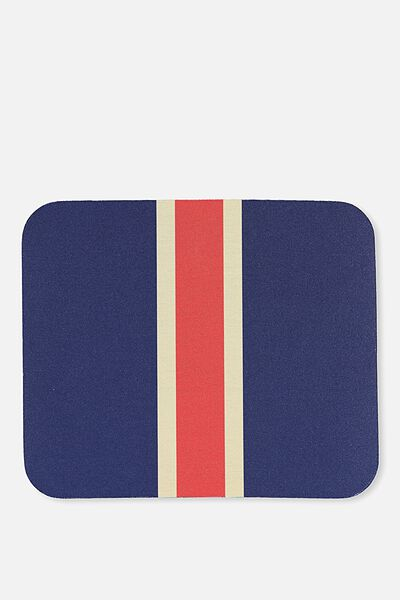 Neoprene Mouse Pad, NAVY & RED STRIPE