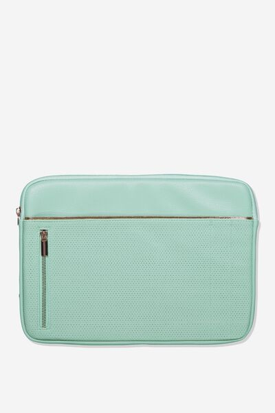 Take Charge Laptop Cover 13 inch, MINT PERFORATED