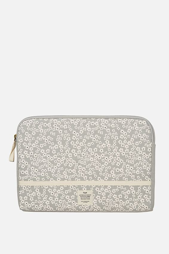 "Take Me Away 11"" Laptop Case, CHERRY BLOSSOM COOL GREY"