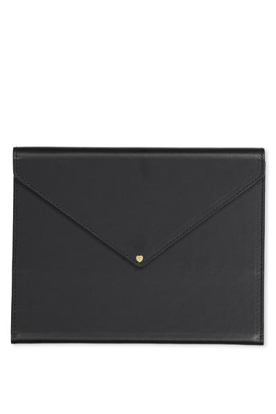 Magnetic Close Journal & Pen, BLACK & FLORAL