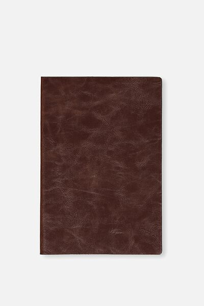 A5 Soft Cover Buffalo Journal - 176 Pages, RICH TAN