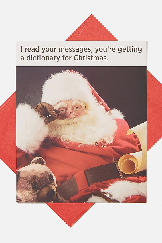 Christmas Card 2020, READ YOUR MESSAGES SANTA MEME