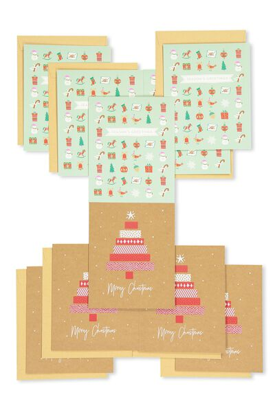 Christmas Card 2017 Pack Of 10, TRADITIONAL