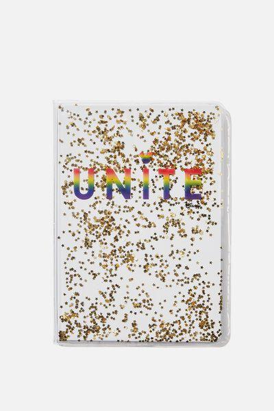 A5 Glitter Notebook, LCN DIS MK PD UNITE