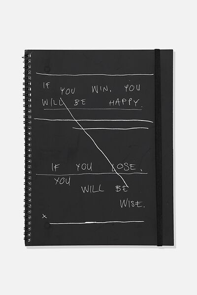 A4 Spinout Notebook Recycled, TBAR BE WISE