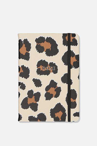 Personalised A5 Buffalo Journal, LEOPARD SPOTS