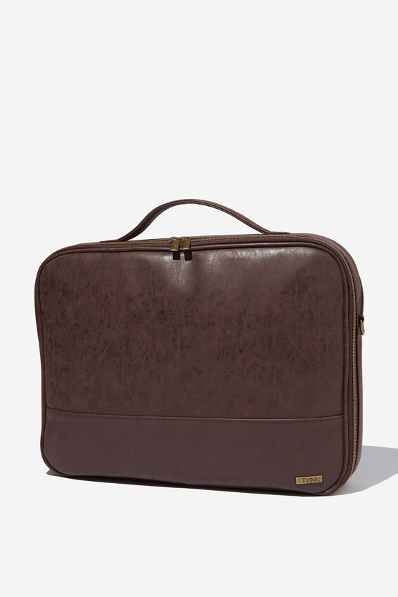 Mobile Laptop Folio 15 Inch, TEXTURED RICH TAN