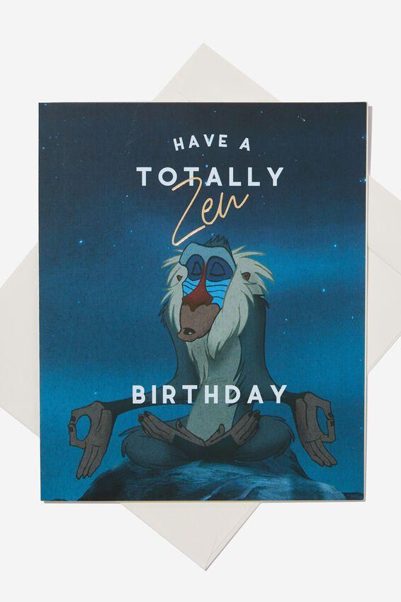 Lion King Funny Birthday Card, LCN DIS ZEN KING