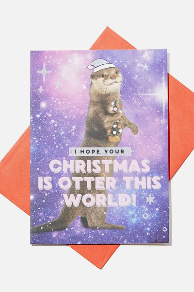 Christmas Card 2019, OTTER THIS WORLD