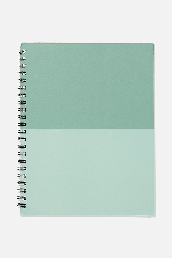 A4 Campus Notebook Recycled, GREEN MOSS SPLICE