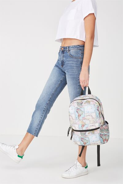 Student Backpack, WORLD MAP
