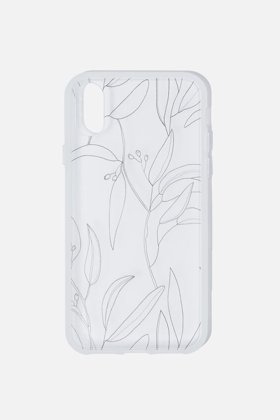 Snap On Protective Phone Case X, Xs, GUMNUT LEAVES