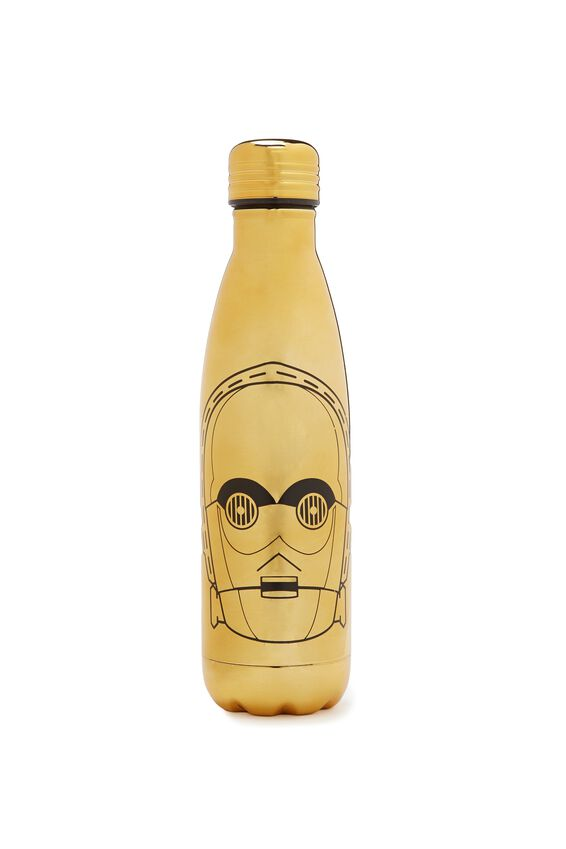 Star Wars Metal Drink Bottle, LCN C3PO