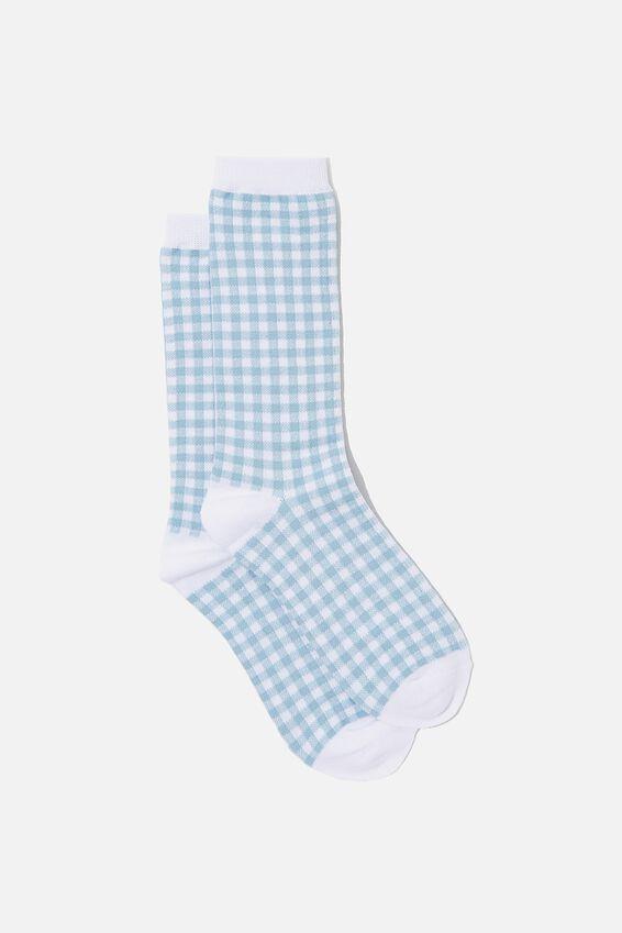 Socks, HYACINTH GINGHAM