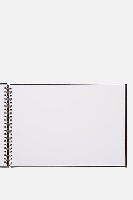 A3 Spiral Sketch Book, BLACK