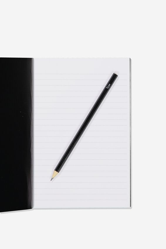 A5 Textured Notebook, BLACK MARBLE PROCRASTINOTES