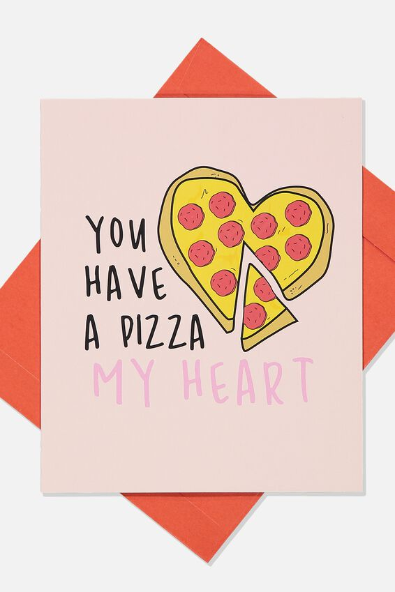Scented Premium Love Card, SCENTED PIZZA MY HEART