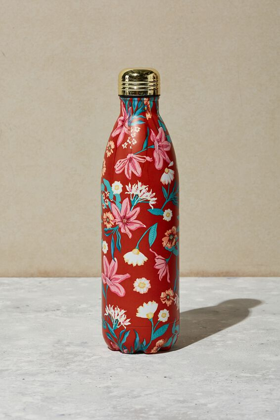 1L Metal Drink Bottle, GARDEN PARTY FLORAL