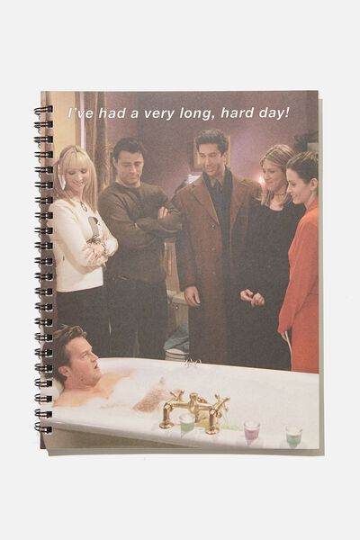 A4 Campus Notebook Recycled, LCN WB FRIENDS HARD DAY BATH