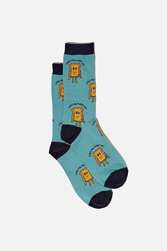Socks, BURNT OUT TOAST