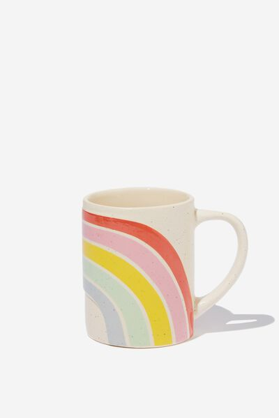 Novelty Shaped Mug, RAINBOW EMBOSSED