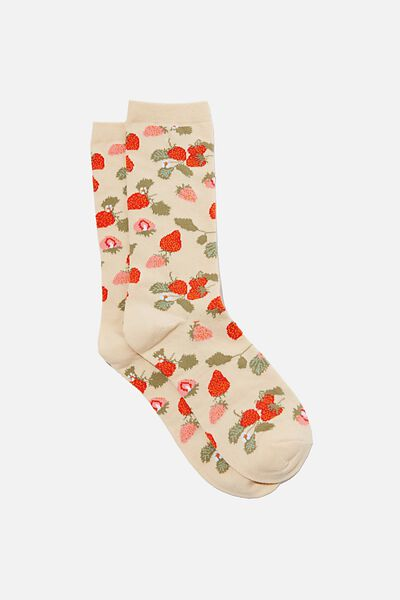 Socks, STRAWBERRIES