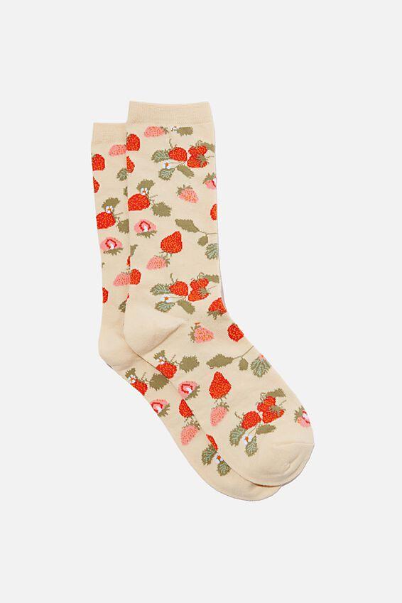 Socks, STRAWBERRIES
