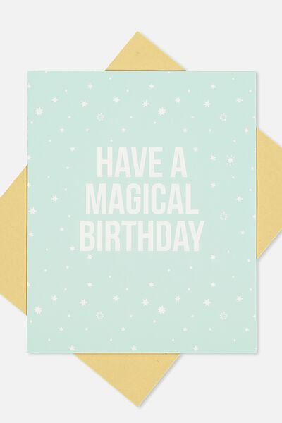 Nice Birthday Card, MAGICAL BIRTHDAY STARS