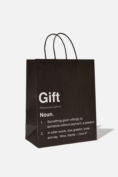 Get Stuffed Gift Bag - Medium, GIFT NOUN BLACK