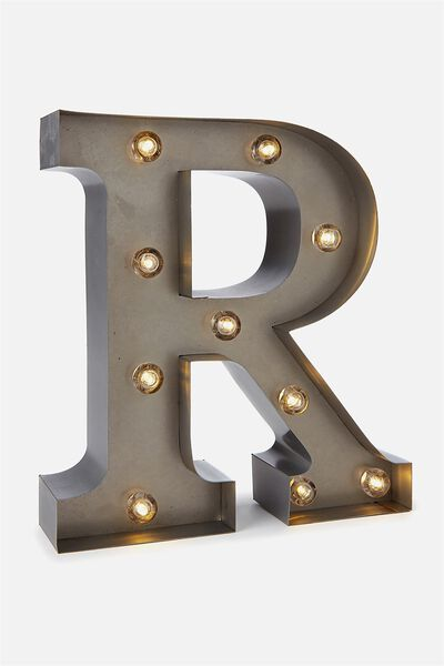 Small Marquee Letter Lights 23cm, SILVER R
